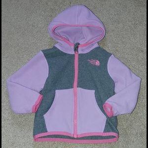 Infant Girls North Face Fleece Jacket